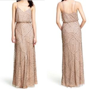 Adrianna Papell blouson long Gown